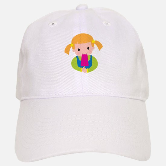 Little Girl Popsicle Baseball Baseball Cap