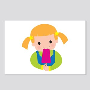 Little Girl Popsicle Postcards (Package of 8)