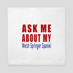 Ask About My Welsh Springer Spaniel Do Queen Duvet