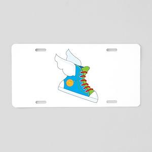 Flying Sneaker Aluminum License Plate