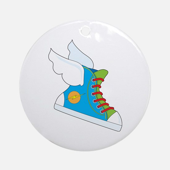 Flying Sneaker Ornament (Round)