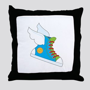 Flying Sneaker Throw Pillow