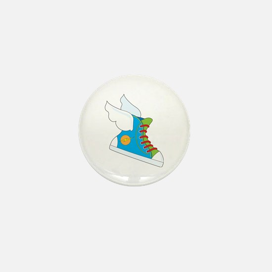 Flying Sneaker Mini Button