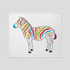 Multicolor Zebra Throw Blanket