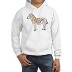 Multicolor Zebra Hooded Sweatshirt
