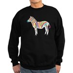 Multicolor Zebra Sweatshirt (dark)