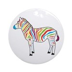 Multicolor Zebra Ornament (Round)