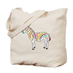 Multicolor Zebra Tote Bag