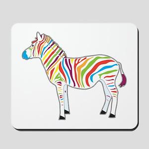 Multicolor Zebra Mousepad