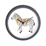 Multicolor Zebra Wall Clock