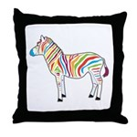 Multicolor Zebra Throw Pillow