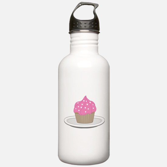 Cupcake w/Pink Frosting 2 Water Bottle