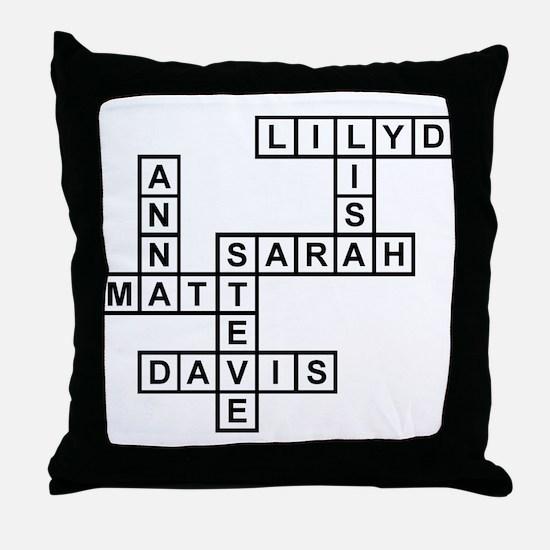 Scrabblestyle Pillows Scrabblestyle Throw Pillows & Decorative