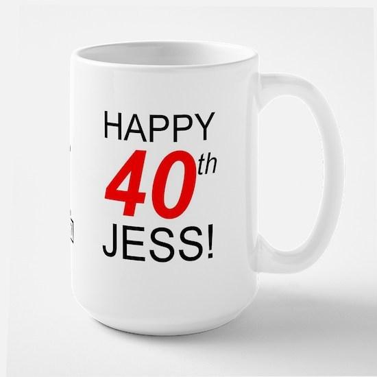 HAPPY 40th JESS! SCRABBLE-STYLE Mug