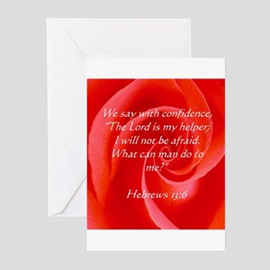 Confidence Biblical Scripture Greeting Cards (Pk o