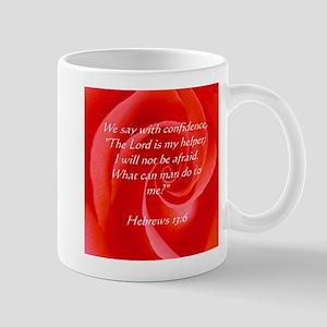 Confidence Rose Biblical Scripture Mug