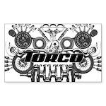 Torco Race Parts Art Sticker (Rectangle)