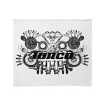 Torco Race Parts Art Throw Blanket