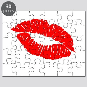 Red Kissing Lips Puzzle