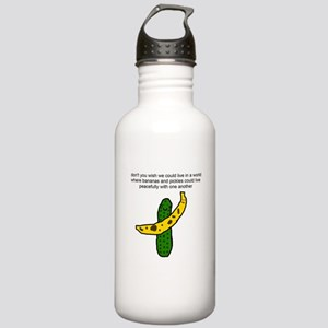 Pickles and Bananas Stainless Water Bottle 1.0L