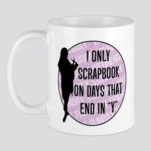 Scrapbook days end in y - Purple Mug