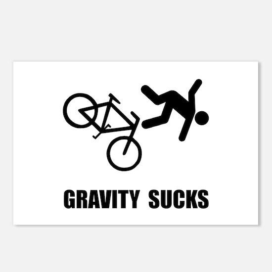 Gravity Sucks Bike Postcards (Package of 8)