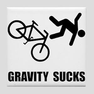 Gravity Sucks Bike Tile Coaster
