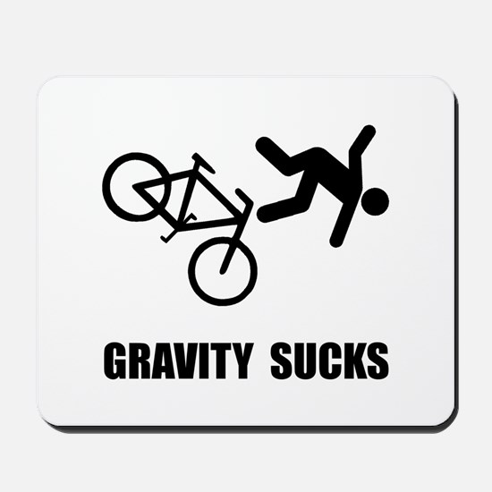 Gravity Sucks Bike Mousepad