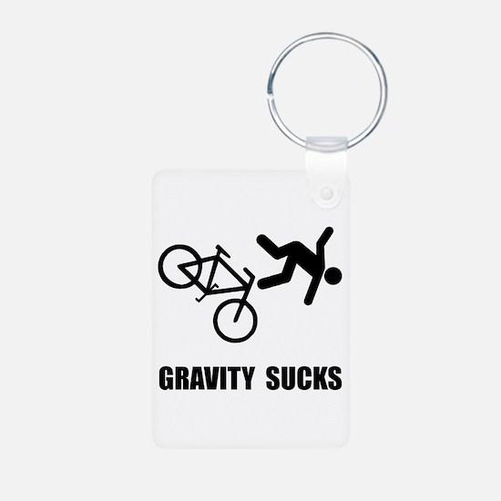 Gravity Sucks Bike Keychains