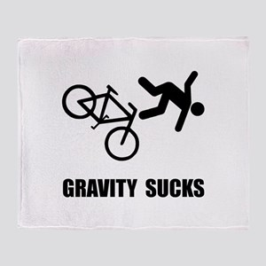 Gravity Sucks Bike Throw Blanket