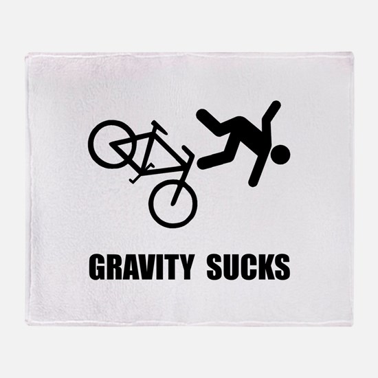 Gravity Sucks Bike Throw Blanket