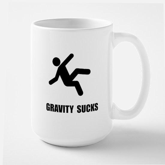 Gravity Sucks Large Mug