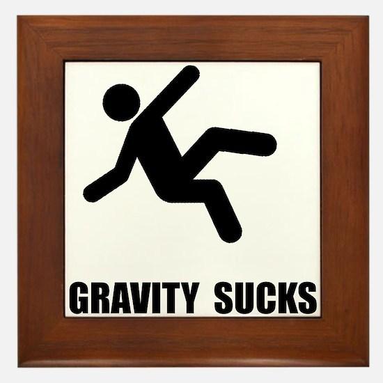 Gravity Sucks Framed Tile