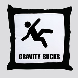 Gravity Sucks Throw Pillow