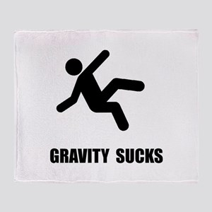 Gravity Sucks Throw Blanket