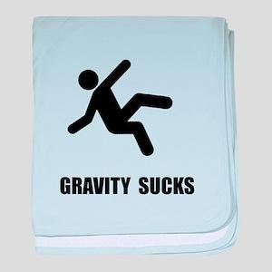 Gravity Sucks baby blanket
