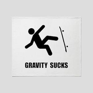 Skateboard Gravity Throw Blanket