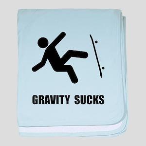 Skateboard Gravity baby blanket