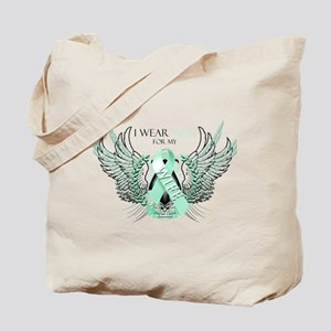 I Wear Teal for my Wife Tote Bag