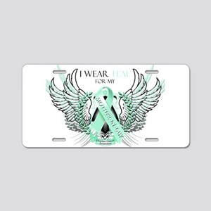 I Wear Teal for my Mother In Aluminum License Plat
