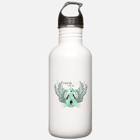 I Wear Teal for my Mom Water Bottle