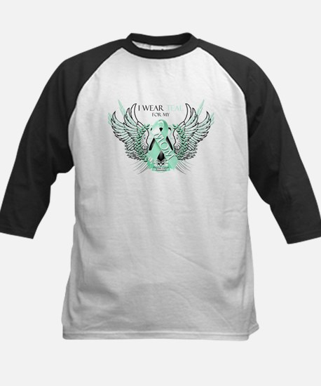 I Wear Teal for my Mom Kids Baseball Jersey