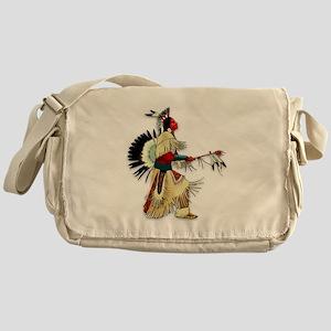 Native American Warrior #5 Messenger Bag