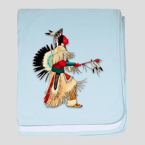 Native American Warrior #5 baby blanket
