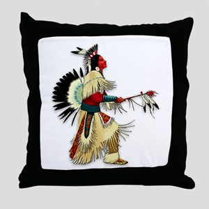 Native American Warrior #5 Throw Pillow