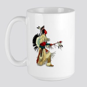 Native American Warrior #5 Large Mug