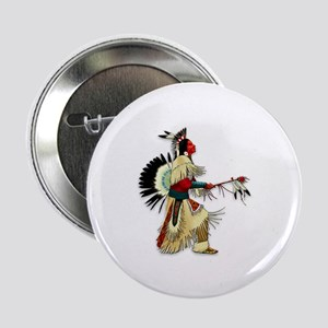 "Native American Warrior #5 2.25"" Button"