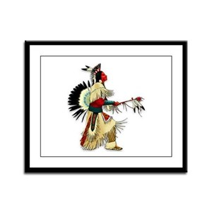 Native American Warrior #5 Framed Panel Print