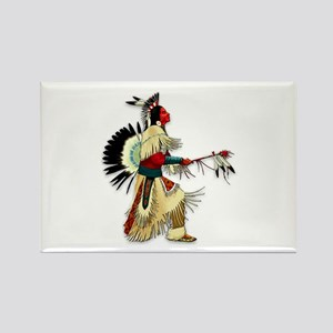 Native American Warrior #5 Rectangle Magnet