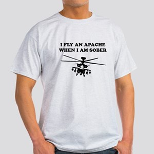 Fly a Sober Apache Light T-Shirt